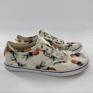 Vans White With Pineapple Print women's size 7.5
